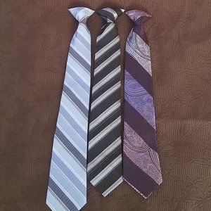 GEORGE VARIETY NECK TIE BUNDLE BLUE, PURPLE, BLACK